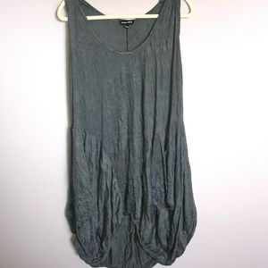 Valeria Fratta - Grey Wrinkle Summer Dress.